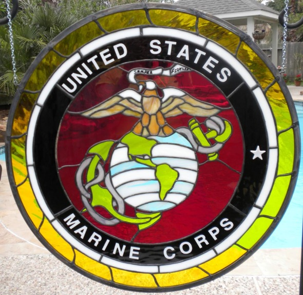 Marine Corp. Stained Glass Emblem