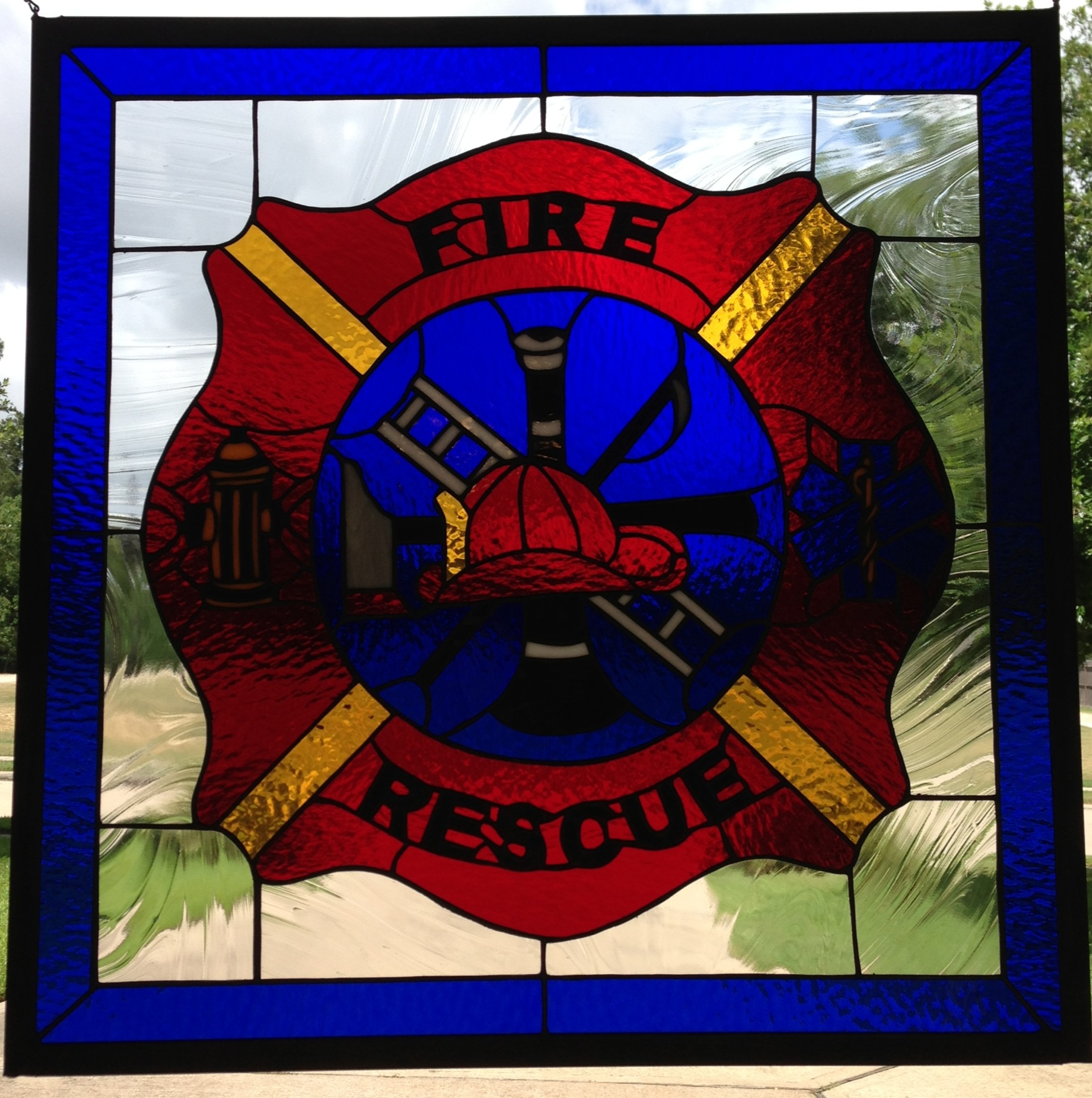 FIRE & RESCUE Stained Glass | Allie Kay\'s Glass & More